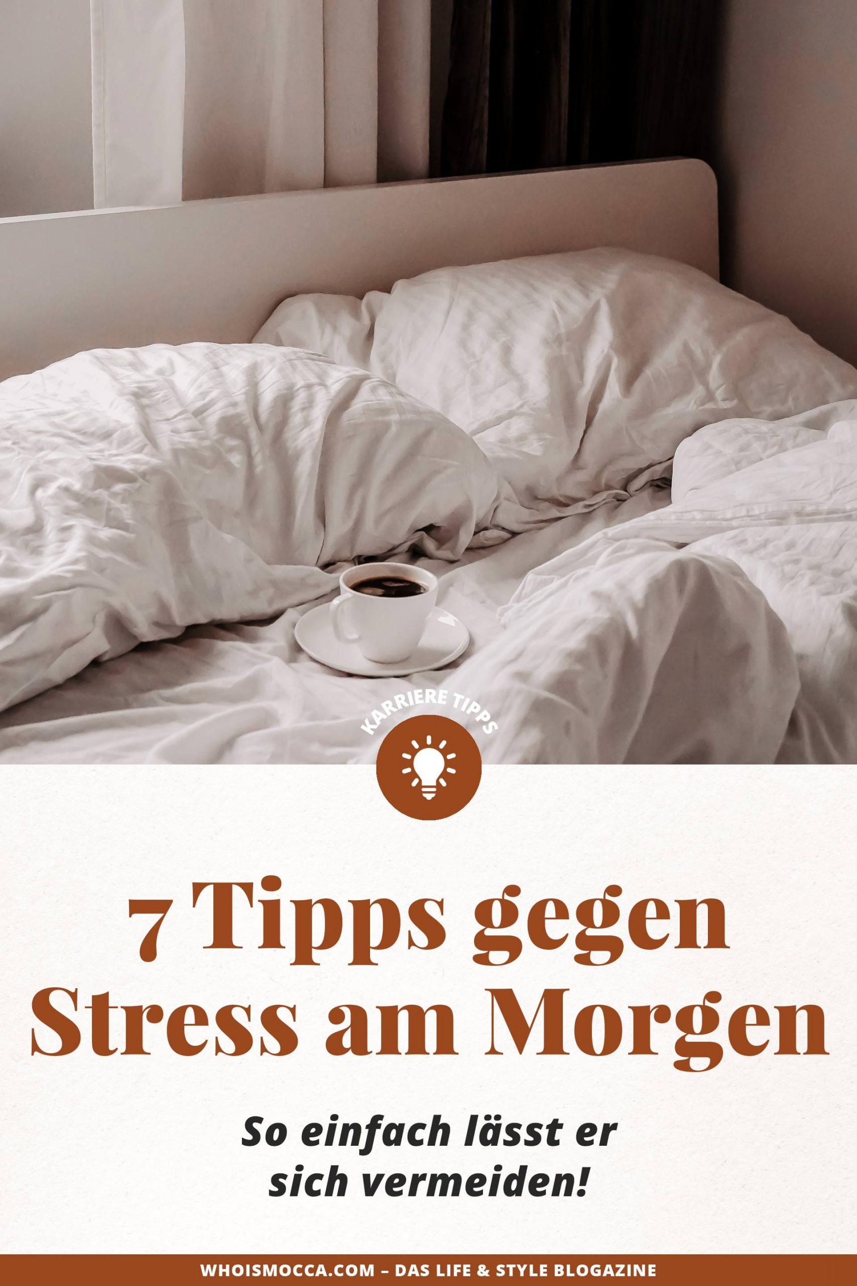 Kennst du das auch? Stress am Morgen ist oft ein stetiger Begleiter und kann uns sogar den ganzen Tag vermießen. Dabei lässt sich Stress doch eigentlich recht leicht vermeiden.Im heutigen Blogbeitrag auf meinem Karriere Blog zeige ich dir, wie du mit einfachen Tipps und Tricks den Stress am Morgen loswerden kannst und dem Tag eine Chance geben kannst, ein guter zu werden. #stress #stressmanagement #karrieretipps