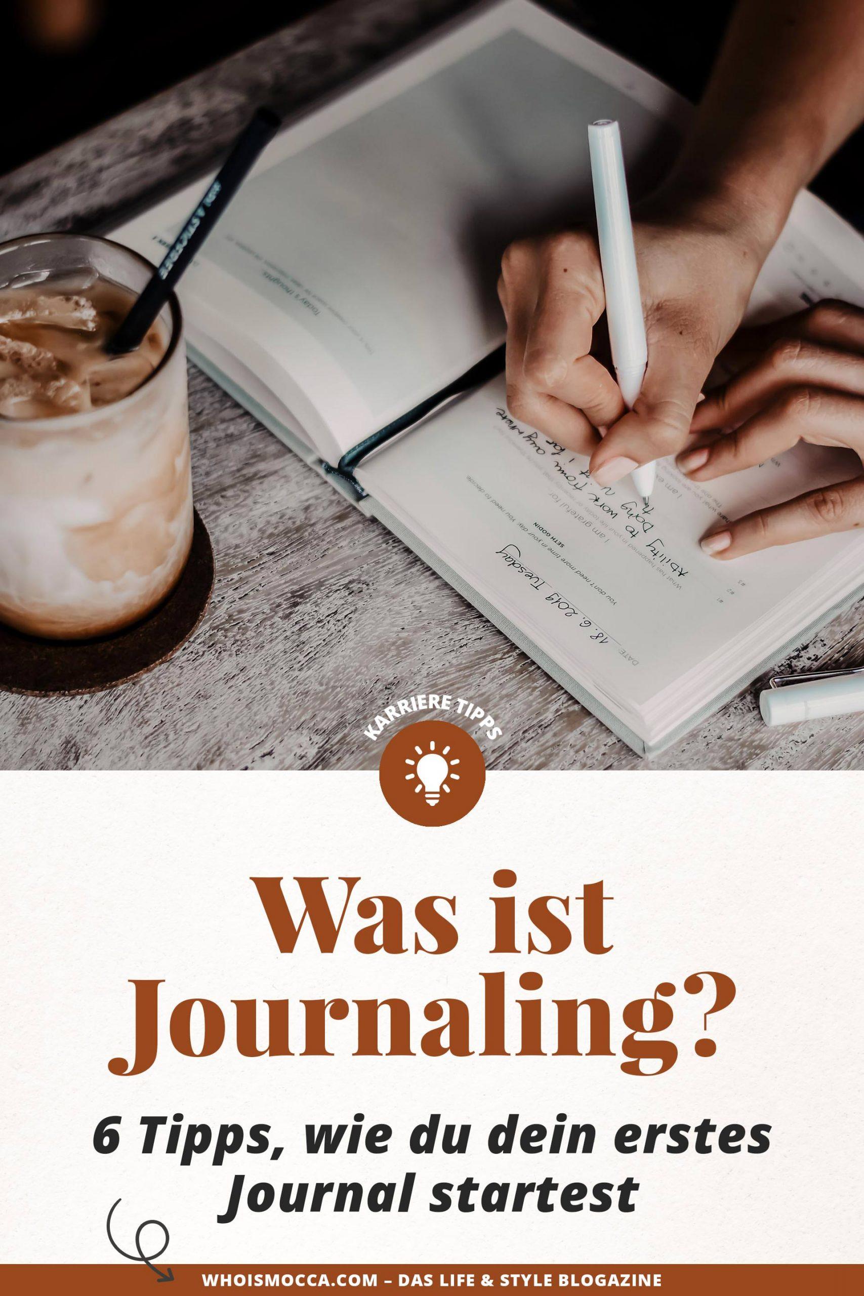 Journaling nennt sich die neue Art und Weise, wie man auch als Erwachsener seine Gedanken täglich und effizient zu Papier bringen kann. Es geht dabei vor allem um Selbstreflexion und darum, wie man von sich selbst lernen und wachsen kann. Heute erkläre ich dir, was es mit Journaling auf sich hat, warum uns tägliches Schreiben so gut tut und wie du am besten damit anfangen kannst.www.whoismocca.com #Journaling #BulletJournal #Dankbarkeitstagebuch