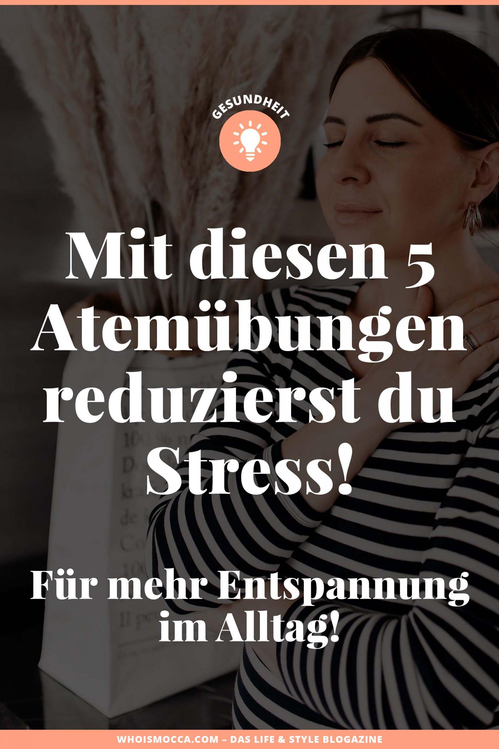 Entspannende Atemübungen können dir helfen, Stress abzubauen und bringen so mehr Gelassenheit in deinen Alltag.Im heutigen Blogbeitrag zeige ich dir, mit welchen einfachen und zeitsparenden Atemtechniken du Stress erfolgreich abbauen kannst. www.whoismocca.com #atemübungen #wohlbefinden #karrieretipps