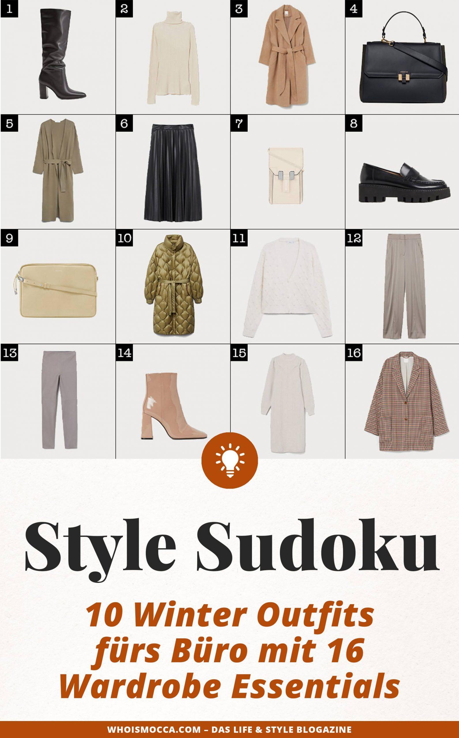 Anzeige. 10 Winter Outfits fürs Büro mit 16 Wardrobe Essentials? Am Modeblog zeige ich dir schöne Business Looks für kalte Tage! www.whoismocca.com