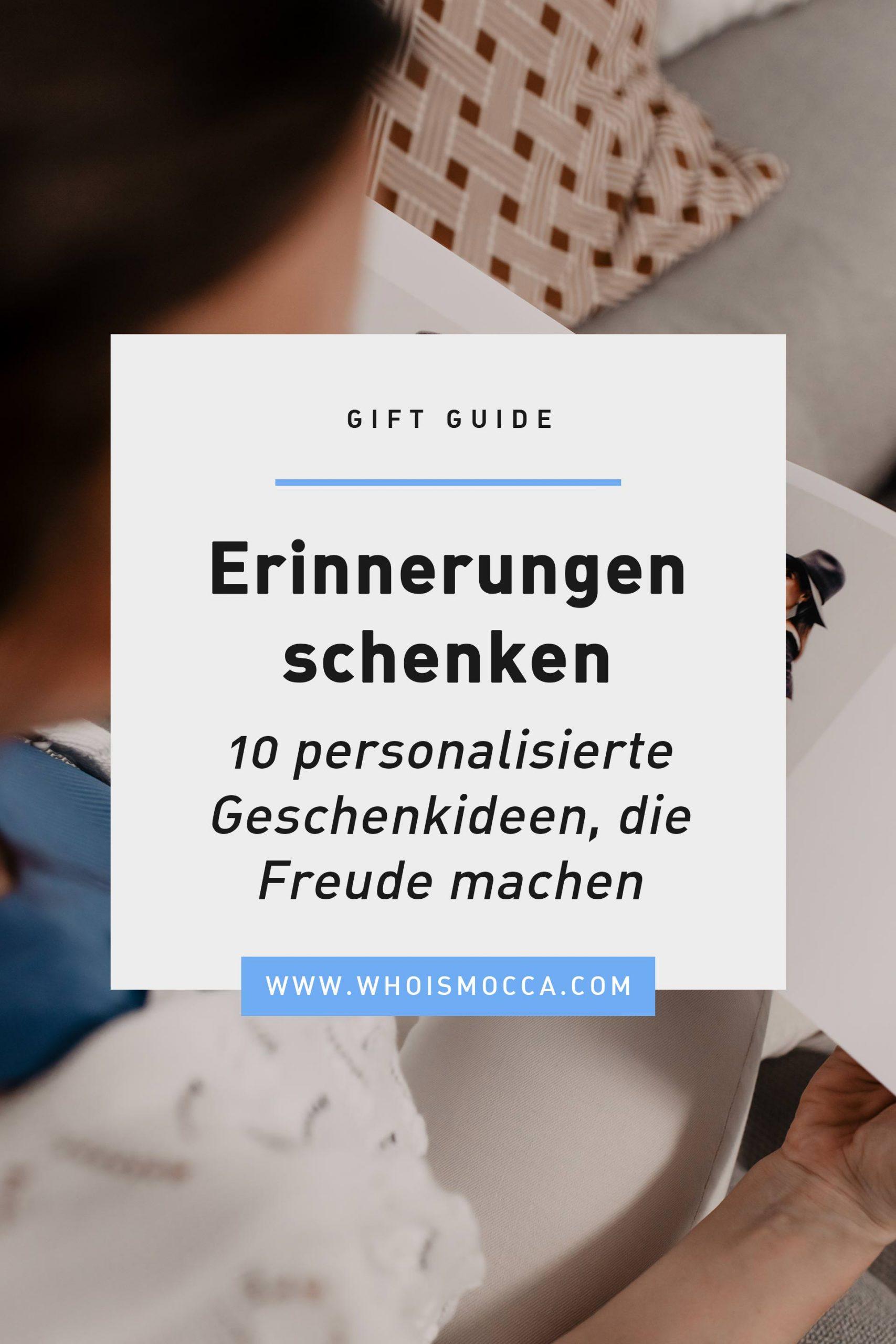 Produktplatzierung. Du möchtest Erinnerungen schenken? Am Blog findest du 10 personalisierte Geschenkideen, die garantiert Freude machen. www.whoismocca.com